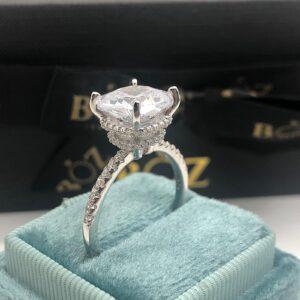 Muna cushion cut sterling silver 925 engagement ring